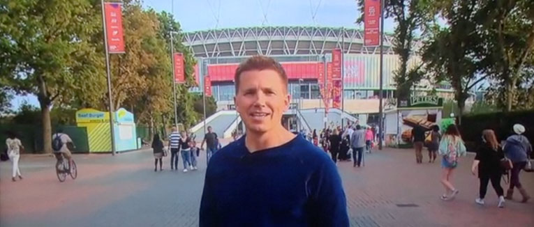 Kickoff TV Productions ouside Wembley Stadium for the new football season